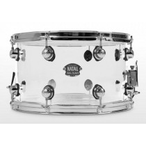 NATAL DRUMS ARCADIA ACRYLIC SNARE DRUM TRANSPARENT