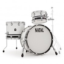 NATAL DRUMS CAFE RACER PIANO WHITE BLACK SPARKLE DOUBLE SPLIT