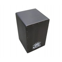 NATAL DRUMS CAJON LARGE BLACK WITH BLACK PANEL