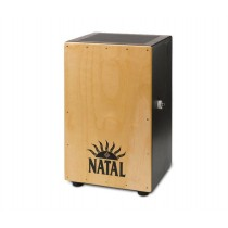 NATAL DRUMS CAJON LARGE BLACK WITH NATURAL PANEL